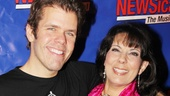 Longtime NEWSical star Christine Pedi can't help but squeeze her new co-star Perez Hilton.