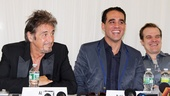 Al Pacino, Bobby Cannavale and David Harbour share a laugh during the press conference.