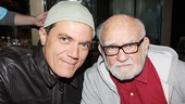 Grace stars Michael Shannon and Ed Asner are happy to welcome converts to the Broadway Flea Market.
