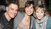 Spider-Man star Robert Cuccioli is happy to catch up with leading ladies Stephanie J. Block (The Mystery of Edwin Drood) and Jill Paice (Rebecca).