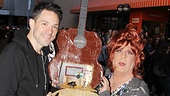 Once Tony winner Steve Kazee gets a gift from drag Anne L. Nathan. Only at the Flea Market, folks