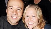 Broadway husband and wife Danny Burstein (coming soon in Golden Boy) and Rebecca Luker take a break from signing autographs to say hi to Broadway.com.