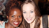 Two of the sweetest Broadway stars come together: Tony winner LaChanze and Tony nominee Laura Osnes.