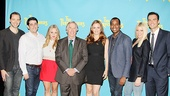 David West Read and Evan Cabnet line up with stars Jenni Barber, Henry Winkler, Alicia Silverstone, Daniel Breaker, Ari Graynor and Cheyenne Jackson.