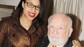 The New Girl's Kali Hawk is on hand to celebrate with her Let Go co-star, Ed Asner.