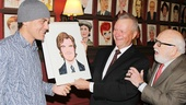 Max Klimavicius reveals Michael Shannon's portrait, and Shannon and co-star Ed Asner are obviously impressed!