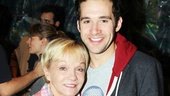 Cathy Rigby catches the other Peter, Starcatchers Adam Chanler-Berat. 