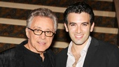 Frankie times two: Valli poses with Jarrod Spector, who channels him on Broadway in Jersey Boys.
