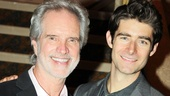 Bob Gaudio, one of the original Four Seasons, bonds with Drew Gehling, who plays him on Broadway in Jersey Boys.