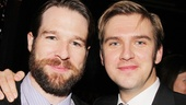 Kieran Campion strikes a pose with Dan Stevens—the actors play cousins in the new revival.