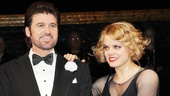 Amy Spanger congratulates Billy Ray Cyrus on his Broadway debut. 