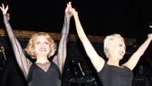 Amy Spanger (Roxie) and Amra-Faye Wright (Velma) acknowledge the applause.