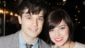 Smash co-stars Andy Mientus and Krysta Rodriguez strike a pose on the red carpet. 