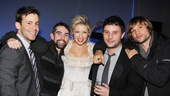 A Dog Sees God reunion! Ari Graynor is flanked by her collaborators from the hit off-Broadway play. From left: Colby Chambers, Keith Knobbs, Trip Cullman and Logan Marshall-Green. 