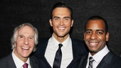 Cheyenne Jackson hangs out with his fellow hunks Henry Winkler and Daniel Breaker.