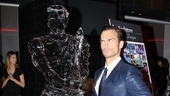 Mandrew vs. Cheyenne Jackson! The Performers stud tries to melt his ice sculpture with his red-hot magnetism.