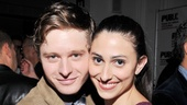 Bobby Steggert and Natalie Cortez, who play young lovers Jordy and Juana, hit the red carpet.