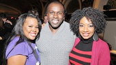 Lucky Josh Henry! Here is he with the beautiful Amber Riley and Adriane Lenox on each arm.