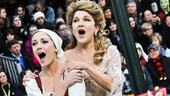 Cinderella&#39;s Laura Osnes and Victoria Clark sound simply sensational together during the Thanksgiving Day Parade performance.