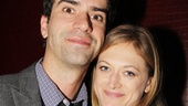 Acclaimed actors Hamish Linklater and Marin Ireland catch up at the opening party.