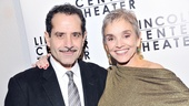 Golden Boy's Tony Shalhoub embraces his wife, actress Brooke Adams. The couple starred together in the 2010 Broadway revival of Lend Me a Tenor.