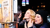 Erin and Anne take in a huge whiff of hot cider in one of the shops. Smell good, ladies?