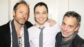Tony winner John Benjamin Hickey and Jim Parsons congratulate Joe Mantello, their co-star in The Normal Heart and director of The Other Place.