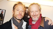 John Benjamin Hickey poses backstage with Daniel Stern, who makes his Broadway debut as Ian Smithton in The Other Place.