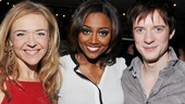 Stars Rachel Bay Jones and Matthew James Thomas flank Pippin Leading Player, Patina Miller.