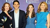 Cinderella and her Prince are flanked by Tony winners Harriet Harris as wicked stepmother Madame and Victoria Clark as fairy godmother Marie.