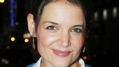 Always-gorgeous Katie Holmes, who just finished up her run on Broadway in Dead Accounts, lands a first-night ticket to the show.