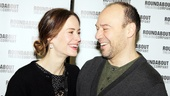 Talley's Folly stars Sarah Paulson and Danny Burstein share a laugh as they greet the press!