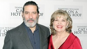 Big Daddy and Big Mama! Ciaran Hinds and Tony winner Debra Monk get some quality time in at the party.