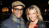 Former The Performers co-stars Daniel Breaker and Ari Graynor reunite on the red carpet.