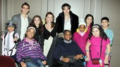 Carly Rose Sonenclar, Rebecca Faulkenberry and Reeve Carney get some quality time with kids from the Starlight Children's Foundation.