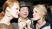 Kate Baldwin and Erin Dilly played La Guardia's first and second wife. Here the two ladies are fighting over their man. Congrats, all!