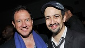 In the Heights producer Kevin McCollum shares in the celebration with Lin-Manuel Miranda.