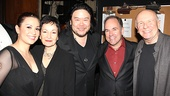 Lea Salonga receives congratulations from Ragtimes Tony winning lyricist Lynn Ahrens, director Stafford Arima, Tony-winning composer Stephen Flaherty and Tony-winning librettist Terrence McNally.