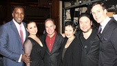 Norm Lewis, Lea Salonga and Howard McGillin surround Ragtime's Tony-winning songwriting team Stephen Flaherty and Lynn Ahrens and director Stafford Arima.