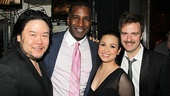 Director Stafford Arima can't get enough of Ragtime leading players Norm Lewis (Coalhouse Walker Jr.), Lea Salonga (Mother) and Manoel Felciano (Tateh).