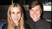 Look at those smiles! Zosia Mamet and her big sister, Willa, relax at the opening night party.