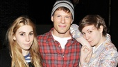 Lena Dunham jumps at the chance for a shot with Really Really headliners Zosia Mamet and Matt Lauria.