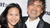 The Dance and the Railroad director May Adrales joins playwright David Henry Hwang for a congratulatory photo.