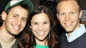 Co-composers Benj Pasek and Justin Paul rally around Dogfight star Lindsay Mendez.