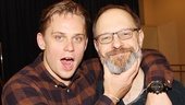 The show's male leads, Billy Magnussen and David Hyde Pierce, joke around between interviews.