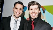 Star Ryan Silverman hangs out with cast member Will Reynolds (Major Rizzolli/Ludovic) at the party.