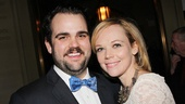 Greg Hildreth receives congratulations from Cat on a Hot Tin Roof star Emily Bergl.