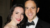 Prince Charming Santino Fontana arrives at the party with his real-life princess, girlfriend Jessica Hershberg.