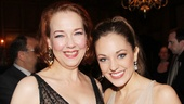 Dont worry: Off stage, wicked Madame (Harriet Harris) and Ella (Laura Osnes) have a great time together. 