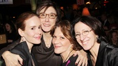Sarah Paulson receives a load of support from Roundabout producer Robyn Goodman, Linda Lavin and Broadway set designer Anna Louizos.